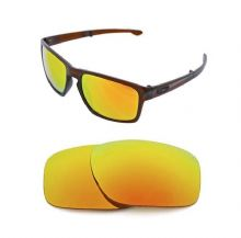 NEW POLARIZED FIRE RED REPLACEMENT LENS FOR OAKLEY SLIVER SUNGLASSES